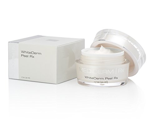 Mediderm WhiteDerm Skin Whitening and Facial Peel Cream with Glycolic Acid for Uneven Skin Tones, Pigmentations, Dull and Wrinkled Skin.