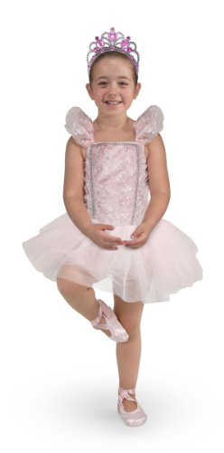 Melissa & Doug Five-piece Ballerina Role Play Costume Set