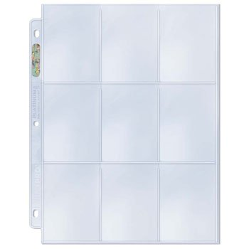 (Ultra Pro 25 Platinum Storage Pages: Baseball & Other Sports Trading Cards Collecting Pages (Platinum Series 9-Pocket Pages), Clear)