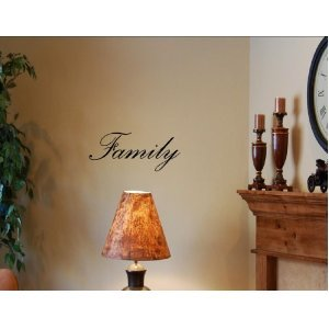 FAMILY Vinyl wall art quotes and sayings home decor decal [Kitchen]