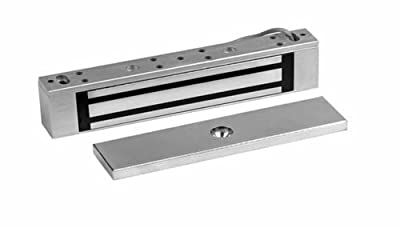 Rutherford Controls 8375 28 Single MicroMag Brushed Anodized Aluminum Electromagnetic Lock, 12/24 VDC (Pack of 1)