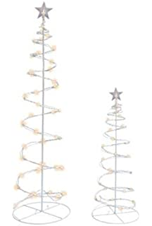 Amazon sienna clear lighted outdoor spiral christmas tree yard led spiral trees 3 and 4 combo pack aloadofball Choice Image