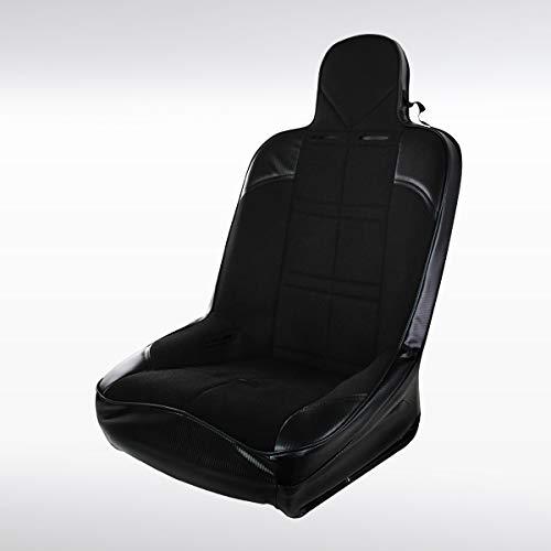 Autozensation 1PC JDM Sport Buckets Style Black PVC Frame Off Road Racing Seat+Slider