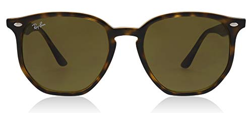 Ray Ban Hexagonal 54 - Ray-Ban RB4306 Hexagonal Sunglasses Rectangular, Havana/Dark