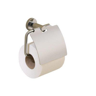 - Porto Wall Mounted Toilet Roll Holder Finish: Satin Nickel