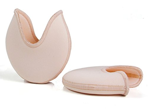 - JUMUU 1Pair Gel Toe Caps Soft Ballet Pointe Dance Athlete Shoe Pads for Girls Women (Skin, Small)