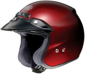 SHOEI RJ PLATINUM R SERIES CRUISER WINE SIZE:XXL Motorcycle Open-Face-Helmet