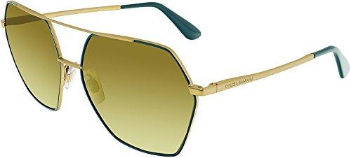 Dolce & Gabbana Women's Metal Woman Non-Polarized Iridium Square Sunglasses, Matte Grey, 59.3 - Frames And Gabanna Dolce
