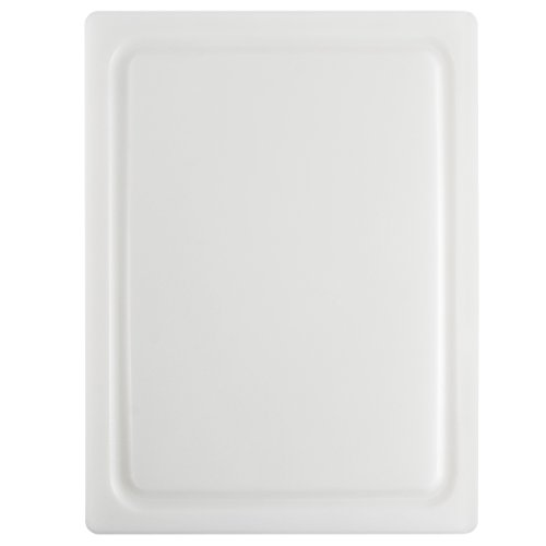 (Dexas 4525-133 NSF Approved Poly Cutting Board with Juice Well, 12 x16 x 5/8 inches, White)