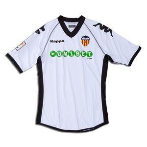 Kappa Valencia C.F. - Camiseta de fútbol, color blanco, 2010-11, XL