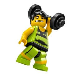 LEGO Minifigure Collection Figure Weightlifter