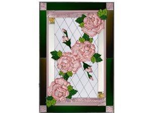 - Rose, U-013 Art Glass Panel