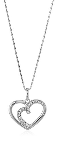 Vir Jewels 1/12 cttw Diamond Heart Pendant In 14K White Gold with 18 Inch Chain