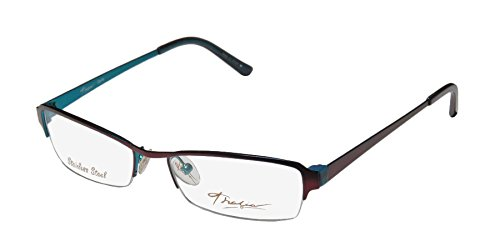 Thalia Dalia Womens/Ladies Designer Half-rim Eyeglasses/Eyewear (50-16-130, Plum / Dark - Rim Bottom Glasses Half