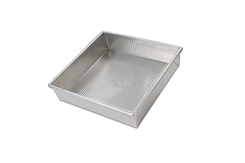 USA Pan 1130BW-BB-2-1 Bare Aluminum Square Cake Pan