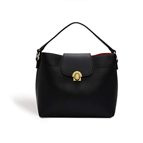 Sara Hobo - LaBante London 'Sara' Vegan Leather Hobo bag for Women (Black)