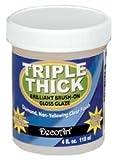 Bulk Buy: Deco Art Triple Thick Gloss Glaze 4 Ounce Wide Mouth Jar TG01-10 (3-Pack)