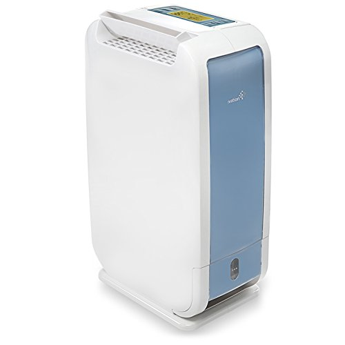 - Ivation 13-Pint Small-Area Desiccant Dehumidifier Compact and Quiet - With Continuous Drain Hose for Smaller Spaces, Bathroom, Attic, Crawlspace and Closets - For Spaces Up To 270 Sq Ft, White