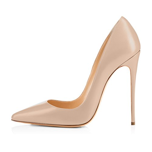 onlymaker Women's Pointed Toe Stilettos High Heel Slip On Dress Pumps Court Shoes Pumps High Heel Court Shoes Classic Nude Color s4K7g02