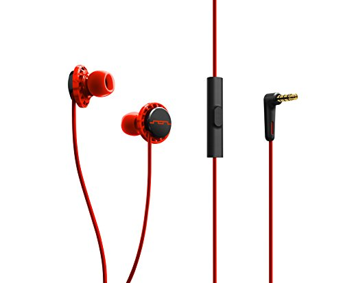 SOL REPUBLIC 1131-33 Relays 3-Button In-Ear Headphones Fluoro, Red