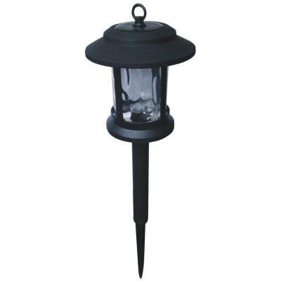 HAMPTON BAY Black Path Lantern (6-Pack) -