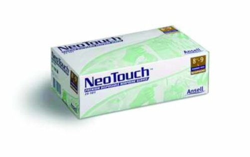 Ansell Neotouch 25-201 Green Large Powder Free Disposable Gloves - Food, Industrial, Medical Grade - 11 in Length - Rough Finish - 5 mil Thick - 385681 [PRICE is per DISPENSER] by Ansell