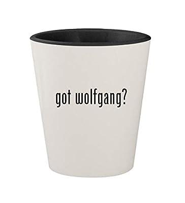 got wolfgang? - Ceramic White Outer & Black Inner 1.5oz Shot Glass