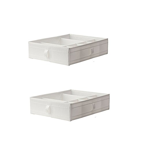 IKEA SKUBB Box compartments, Chest Drawers Wardrobe Storage Organization Units Pax (2, White) by IKEA