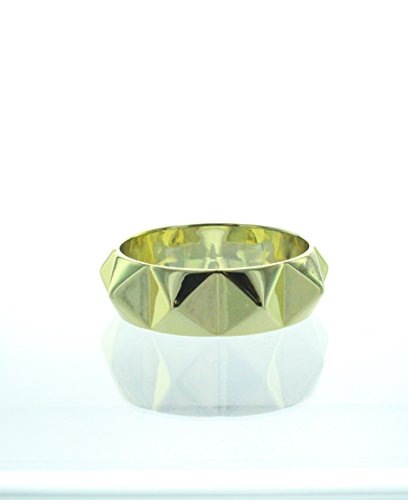 eSmart Fashion Golden Pyramid Spikes Metal Chunky Punk Rock Adjustable Bracelet