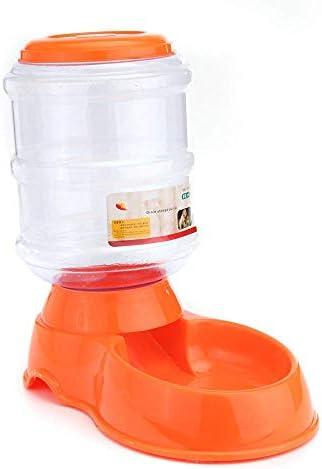 Dmqpp Pet Waterer 3.5L Automatischer Haustier-Wasser-Lebensmittel-Dispenser Hund Katze Große Feeder Pet Bowl Pet Trink Feeder Leicht zu Water and Clean (Color : Orange, Size : 3.5L)