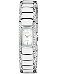 Citizen Eco-Drive Womens EG2950-51A Normandie Silver-Tone Watch with Swarovski Crystal Accents