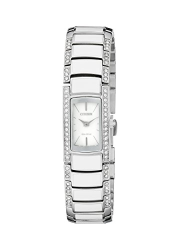 Citizen Eco-Drive Women's EG2950-51A Normandie Silver-Tone Watch with Swarovski Crystal Accents