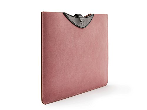 Touch Pink Leather Sleeve (Handmade Stylish 13.3 IN MacBook Pro Retina Sleeve Waterproof Suede Leather Slim 13 Dell XPS Laptop Cover Pouch Bag Portable 13.3 MacBook Air Carrying Case Holder)