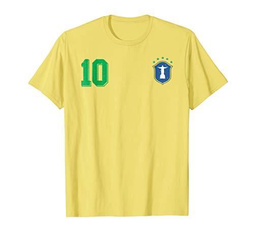 ea25a9072ae Retro Brazil Soccer Brazilian Futebol Jersey Brasil T-Shirt