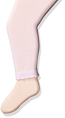 Jefferies Socks Baby Girls' Cotton Footless Tights with Scalloped Edge, Pink, 18-24 Months Infant Footless Tights