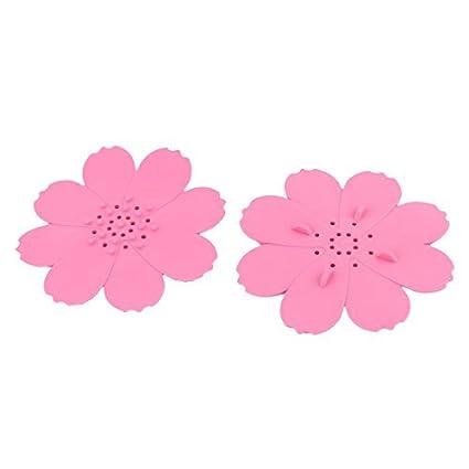 Amazon.com: eDealMax Rosa Familia de goma en Forma de Flor ...