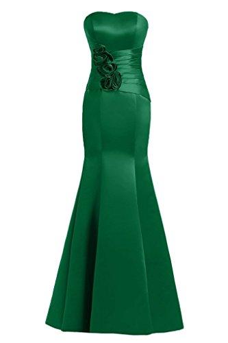 Sunvary Mermaid Sweetheart fiori in raso per abiti da sera Gowns sera, Verde, 24W