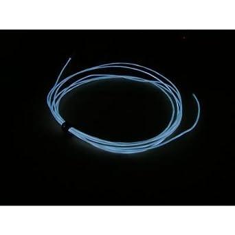 2M Neon Draht EL Wire 3V - Weiß - Tragbar: Amazon.de: Beleuchtung