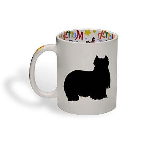 Style In Print Yorkshire Terrier Silhouette Ceramic Christmas Coffee Mug Xmas Tea Cup 11 Oz