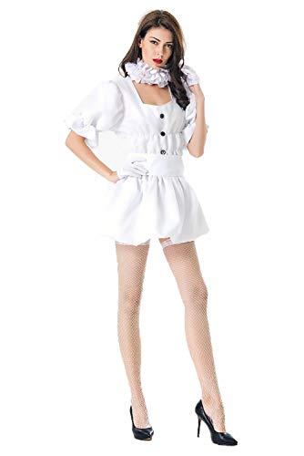 (Mesodyn Women's Sexy Clown Dress Halloween Themed)