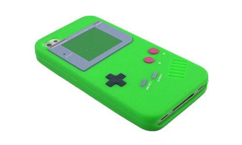 Back Cover für iPhone 4 4G 4S Spielkonsolen Case Silikon Schutz Hülle Grün #YXJ