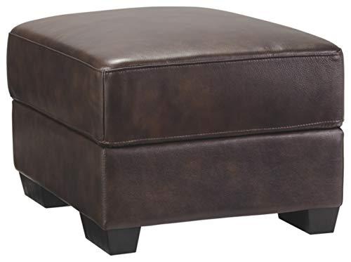 Ashley Furniture Signature Design - Mellen Contemporary Leather Ottoman - ()
