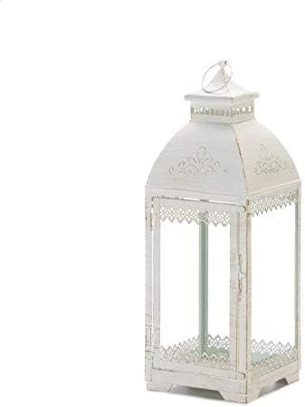 Gallery of Light 10018495 Large Simple Metal Top Wooden Lantern Multicolor