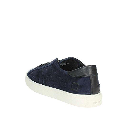 D.A.T.E. Newman Velour blue suede and black leather sneaker Blue cheap sale 2014 newest QEZHj954