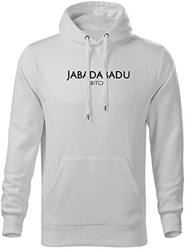 OwnDesigner Premium męska bluza z kapturem Jabadabadu z kapturem męska bluza z nadrukiem: Odzież