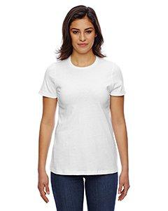 American Apparel Women's Fine Jersey Classic T-Shirt, White, X-Large