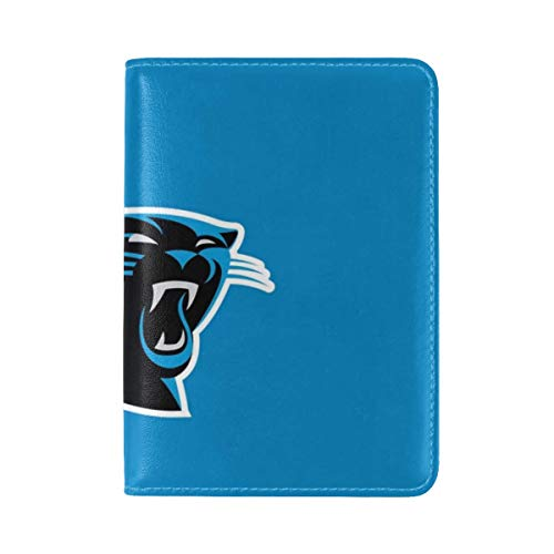 Carolina Panthers American Football Logo Leather Passport Holder Cover Case Travel One Pocket