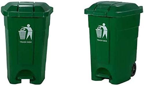 POIUY 屋外のゴミ箱 - Heelieビンのゴミ箱付きフットペダル家庭ふたごみコンテナ緑のゴミ箱家庭、オフィス、ビジネス するには (Color : Green, Size : 29.7*21.9*20.3 inch)