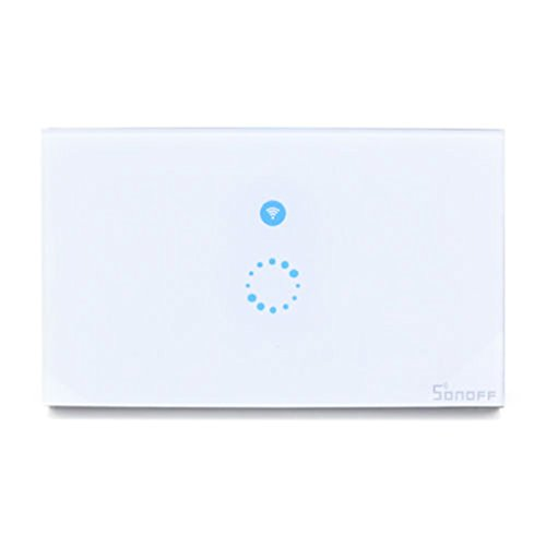 Sonoff Wifi Wireless Touch Remote Control lamp led Tempered Glass Switch Panel Smart home