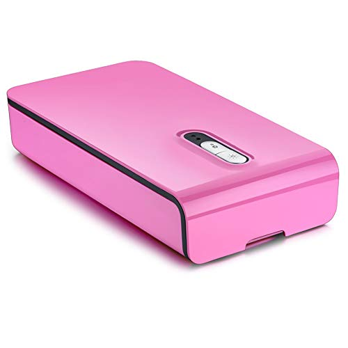 yodaliy Portable Cell Phone Sanitizer Multi-Use UV Sanitizer with USB Charger and Aromatherapy Diffuser UV Disinfection Light Scanner Cleans and Charges All Phones (Pink) ()